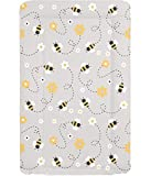 Baby Changing Mat - Grey Bee - One Size
