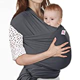 Lictin Baby Wrap-Baby Carrier Adjustable Breastfeeding Cover Baby Carrier Wrap for Infants up to 35 lbs/16kg, Soft and Comfortable with Storage Bag (Dark Gray)