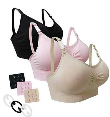3 pack comfort bras Amazon