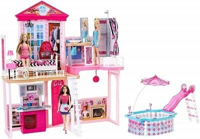Complete Barbie Home Set with Dolls