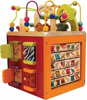 B Toys – Zany Zoo Wooden Activity Cube
