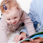 best books for newborns baby reading - baby reading with mother